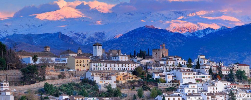 Albaicin - with Sierra Nevada in the background