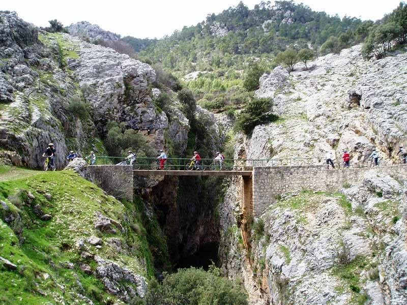 Cycling group in Sierra de Pozo